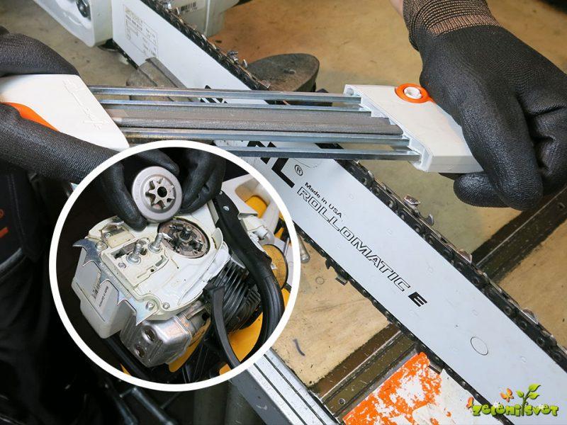 Domače brušenje verige in servis motorne žage