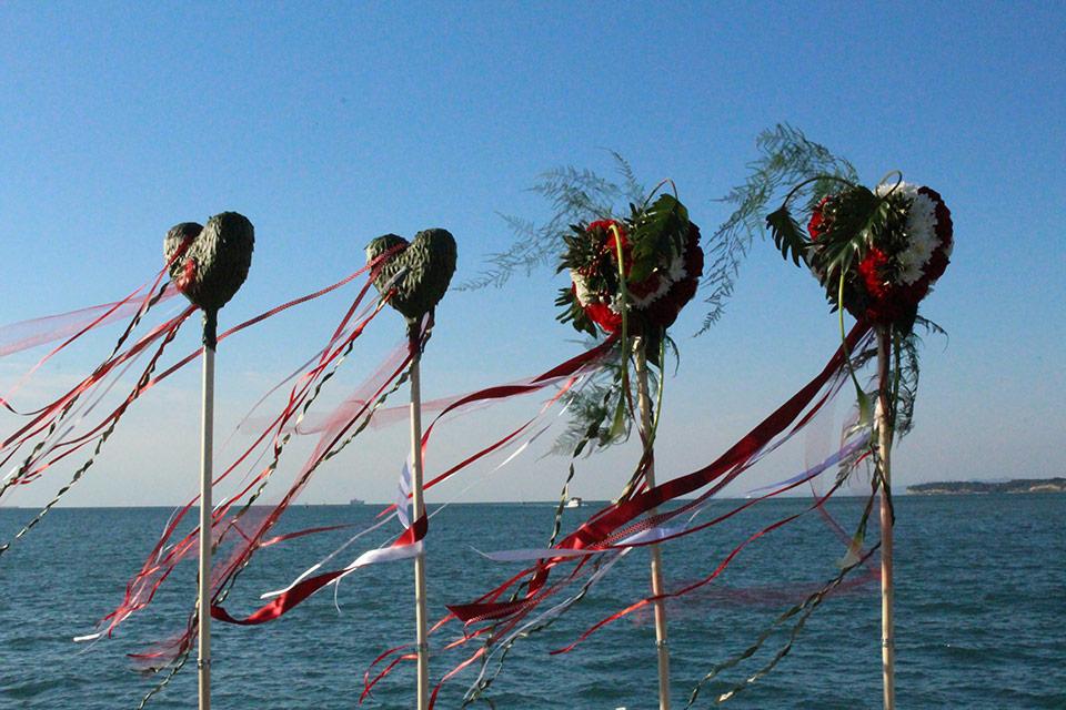 šopek morje dekorativni trakovi