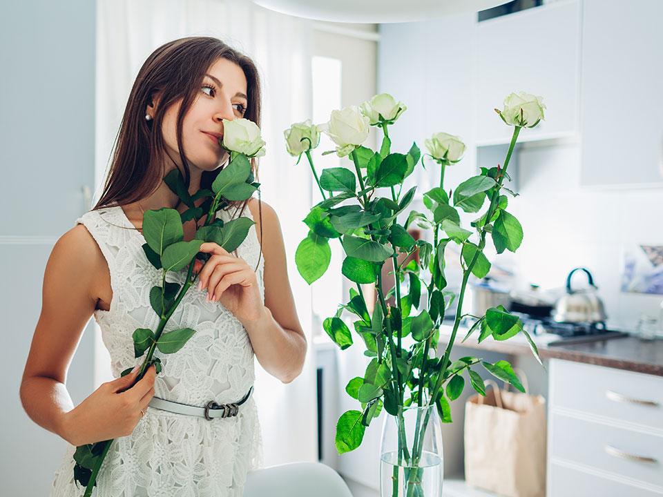 Vrtnice v šopku, izbira vaze, rez stebla, hranila in pravilna oskrba