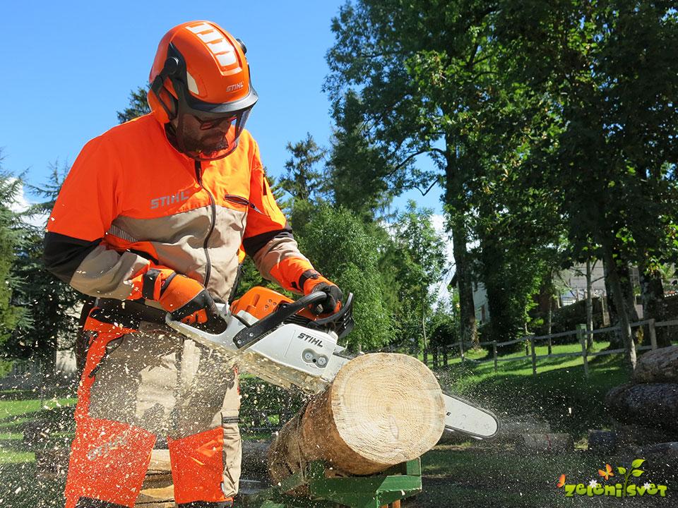 Gregor Češarek in delo z močno kmečko žago