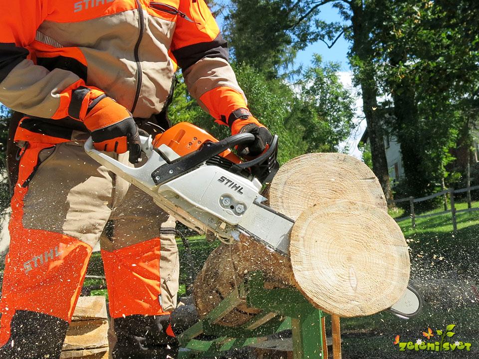 Motorna žaga za vrt, dom, kmetijo, lastnike gozdov in profesionalno rabo