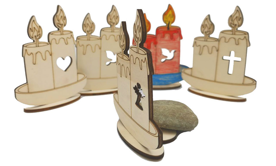 lesena sveča za grob