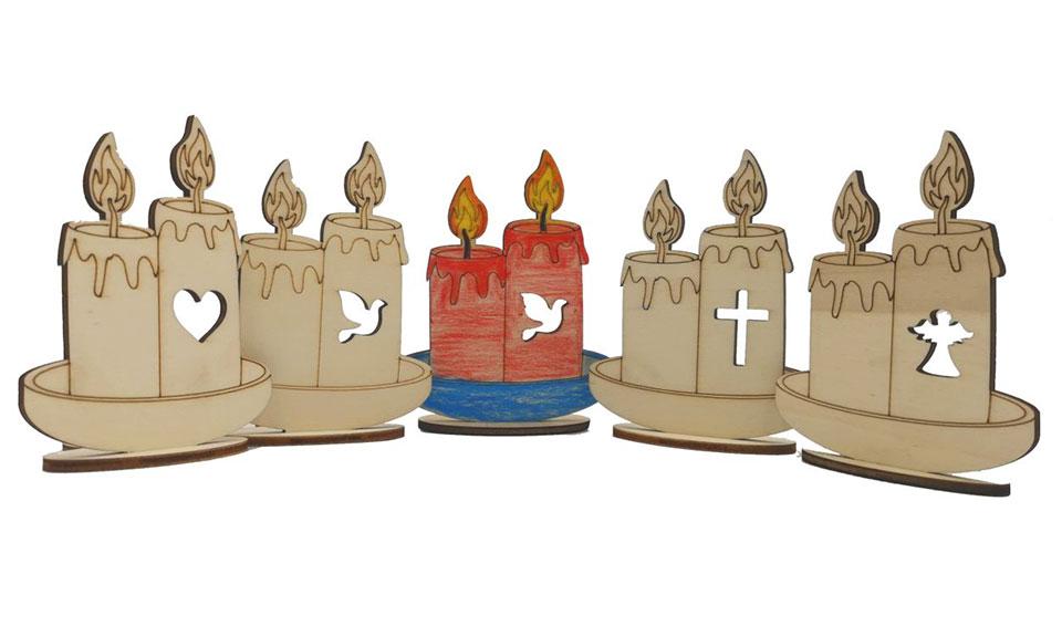 lesena eko sveča